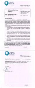QAS-Memorandum